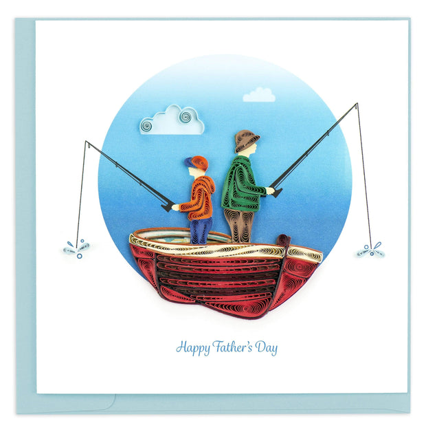 Father's Day Fishing Quilling Card