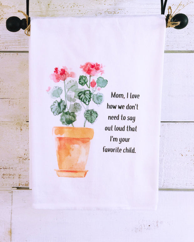 Southern Sisters Favorite Child Gourmet Flour Sack Tea Towel