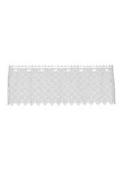 Heritage Lace Filet Crochet Valance, White