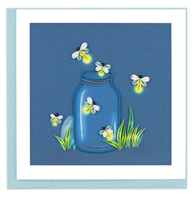 Fireflies Quilling Card