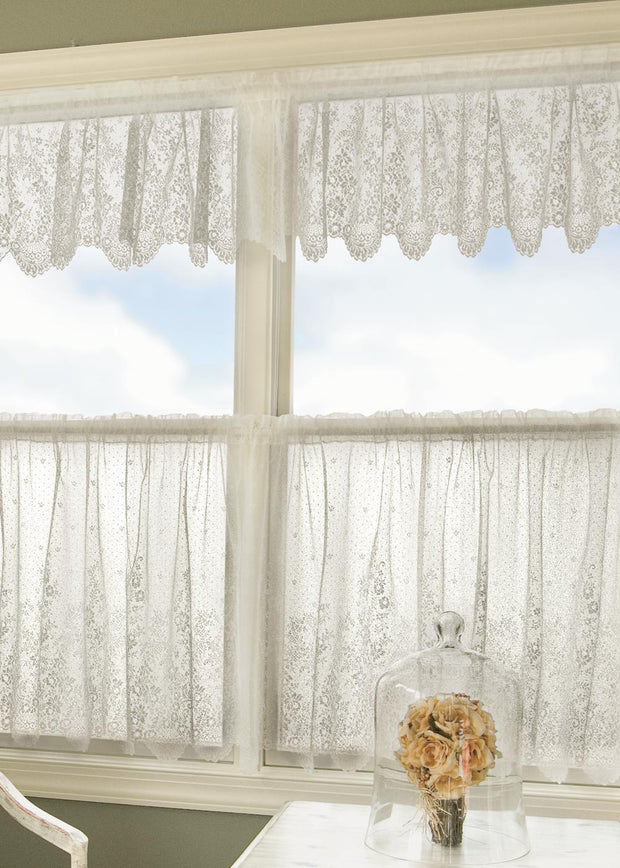 Heritage Lace Floret Curtain Collection, Ecru