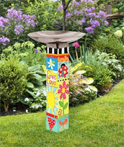 Studio-M Folk Garden Bird Bath Art Pole