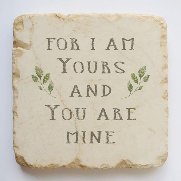 Twelve Stone Art For I Am Yours Scripture Stone