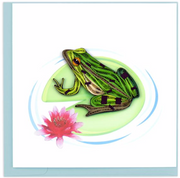 Frog Quilling Card
