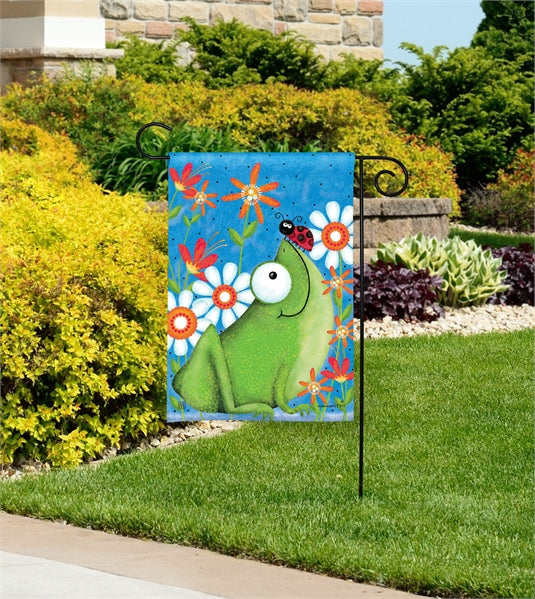Studio-M Frog Fun Garden Flag