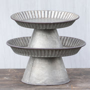 Ragon House Galvanized Metal Compote Stand