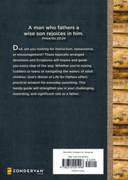 God's Words of Life for Fathers, Back Cover