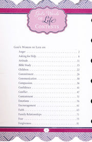 God's Words of Life for Mothers, Contents page 1