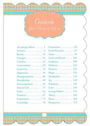 God's Words of Life for Women, Contents Page 1
