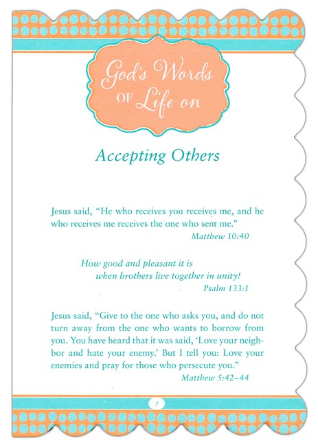 God's Words of Life for Women, Excerpt