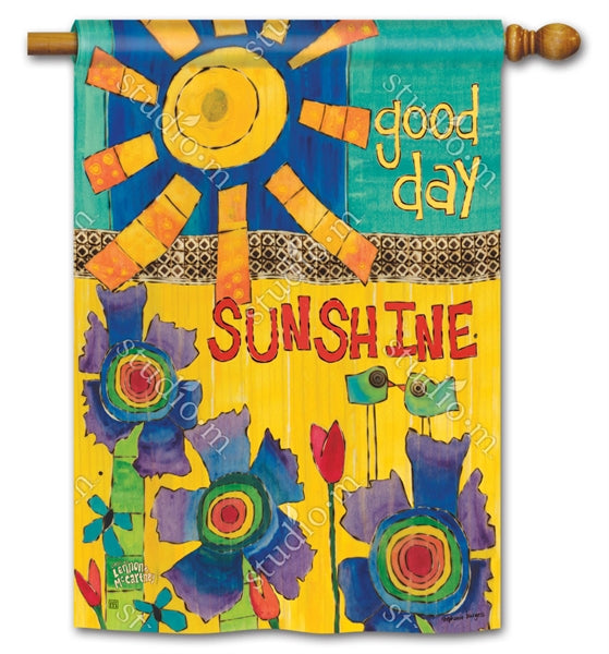 Studio-M Good Day Sunshine Garden Flag, The Lyric Project