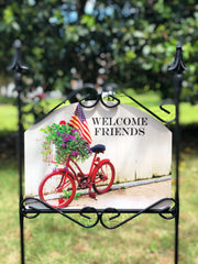Heritage Gallery Americana Bicycle Garden Sign
