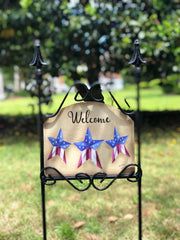 Heritage Gallery Americana Stars Antiqued Garden Sign