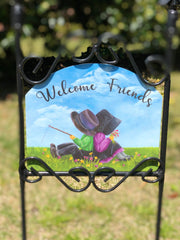 Heritage Gallery Amish Couple Garden Sign