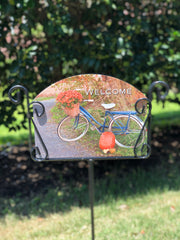 Heritage Gallery Autumn Bicycle Garden Sign