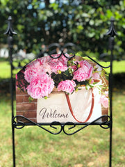 Heritage Gallery Bag of Peonies Garden Sign