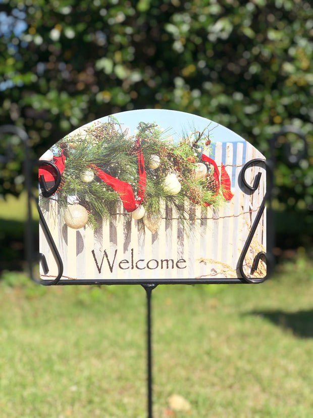 Heritage Gallery Beach Garland Garden Sign