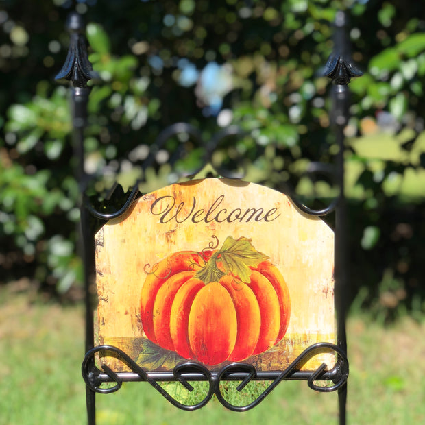 Heritage Gallery Big Pumpkin Garden Sign