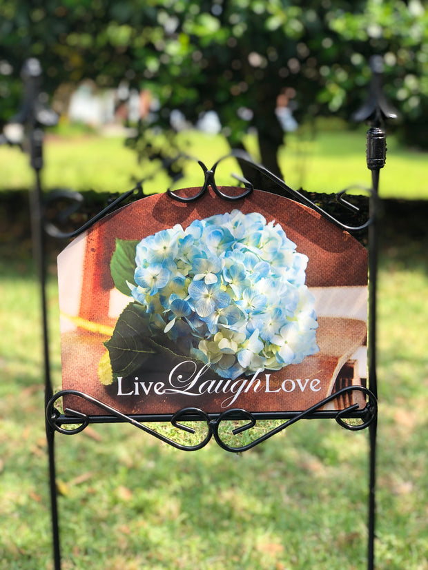 Heritage Gallery Blue Hydrangea Garden Sign