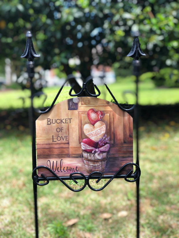 Heritage Gallery Bucket of Love Garden Sign