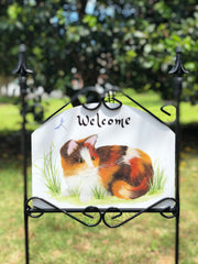 Heritage Gallery Calico Cat Garden Sign