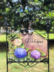 Heritage Gallery Country Hydrangeas Garden Sign