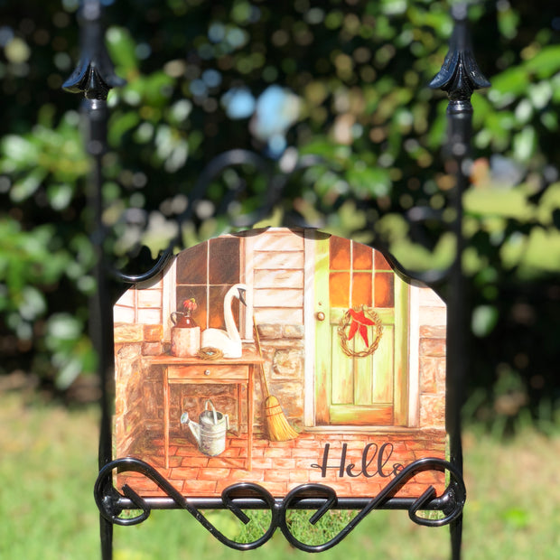 Heritage Gallery Country Porch Hello Garden Sign
