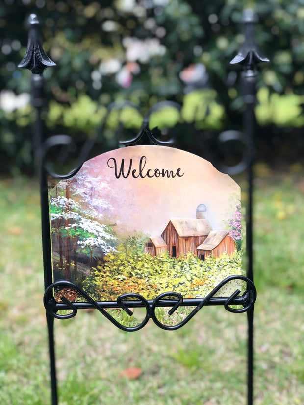 Heritage Gallery Dogwood Dreams Garden Sign