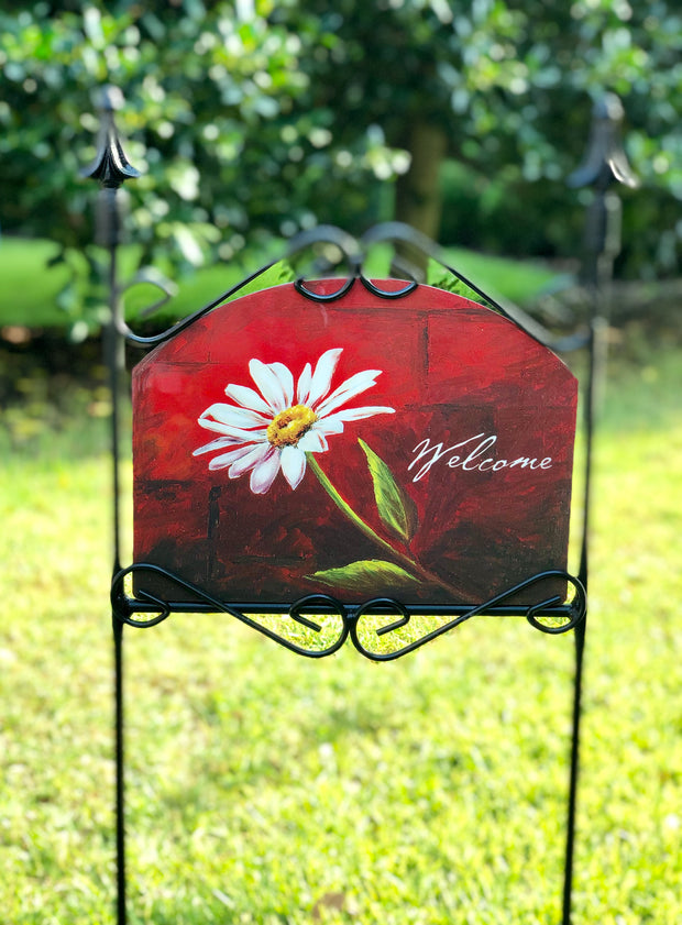 Heritage Gallery Dorcas Welcome Garden Sign