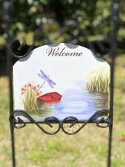Heritage Gallery Dragonfly Lake Garden Sign