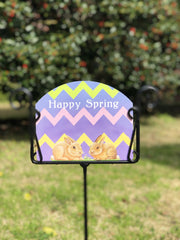 Heritage Gallery Easter Egg Rabbits Garden Sign