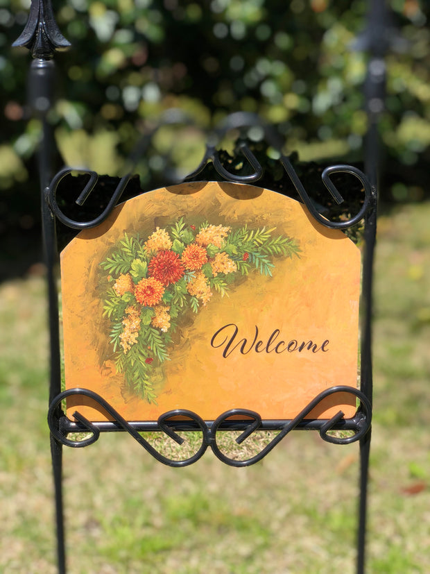 Heritage Gallery Fall Swag Garden Sign