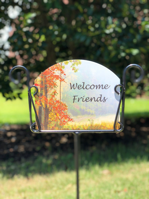 Heritage Gallery Fall Trees Garden Sign