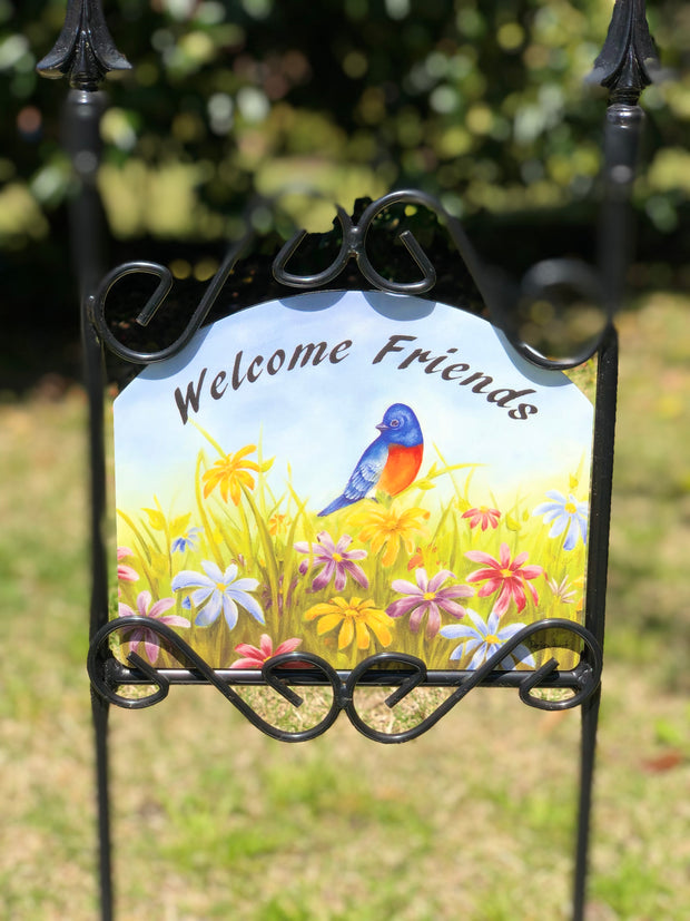 Heritage Gallery Field of Flowers Garden Sign