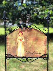 Heritage Gallery Flower Angel Garden Sign