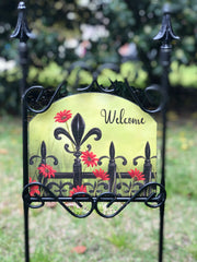 Heritage Gallery Flower Gate Garden Sign