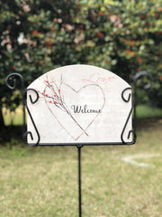 Heritage Gallery French Heart Garden Sign