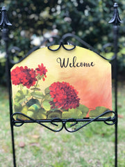 Heritage Gallery Geranium Afternoon Garden Sign