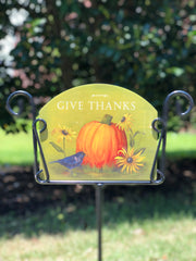 Heritage Gallery Give Thanks Garden Sign