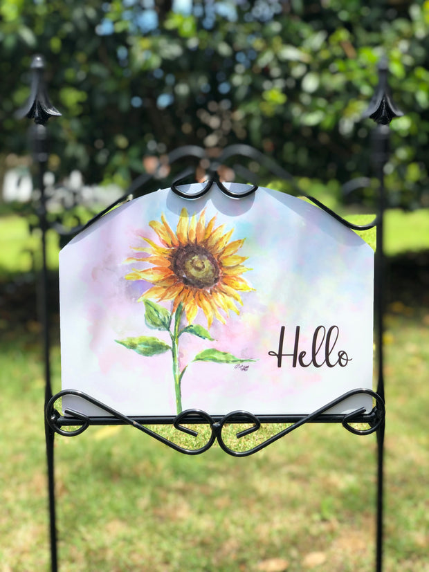 Heritage Gallery Happy Sunflower Garden Sign