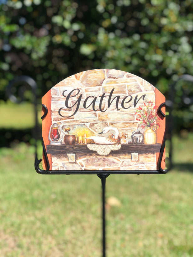 Heritage Gallery Fall Hearth Garden Sign