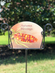 Heritage Gallery Indian Corn Autumn Blessings Garden Sign
