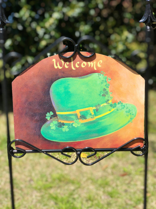 Heritage Gallery Irish Hat Garden Sign