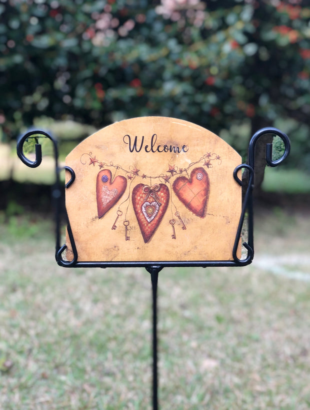 Heritage Gallery Key to Heart Garden Sign