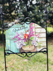 Heritage Gallery Lilac Pouch Garden Sign