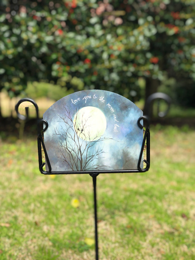 Heritage Gallery Love You to the Moon Garden Sign