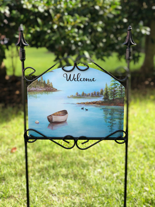 Heritage Gallery New York Lake Welcome Garden Sign