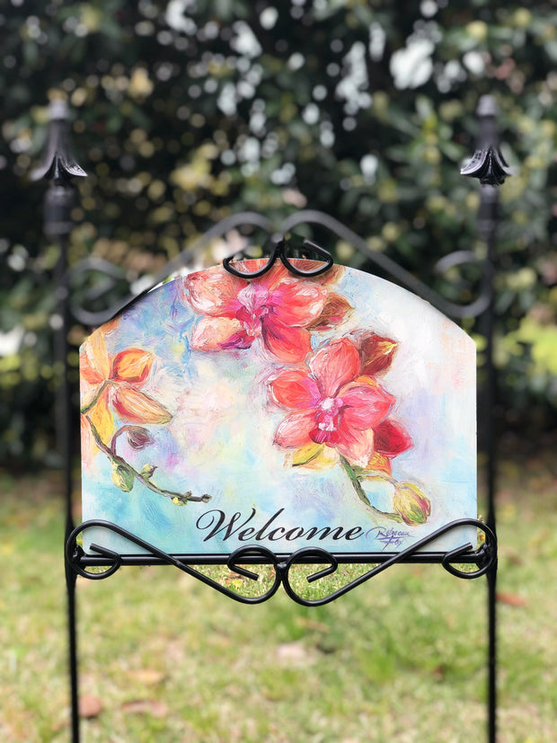 Heritage Gallery Orchids Garden Sign
