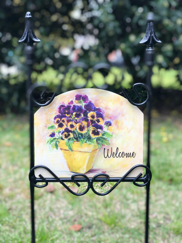 Heritage Gallery Pansy Pot Garden Sign