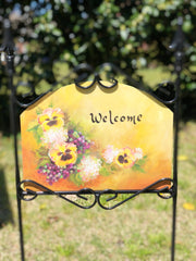 Heritage Gallery Pansy Summer Garden sign